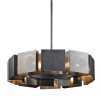 Ceiling Pendant Light Fitting Graphite Troy Impression F6045-CE
