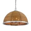 Ceiling Pendant 3 Light Rattan / Steel Corbett Carayes 277-43-CE