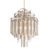 Ceiling Pendant 7 Light Silver Leaf Corbett Chimera 176-47-CE