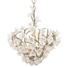 Ceiling Pendant 6 Light Silver Leaf Corbett Lily 211-47-CE