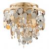 Semi-Flush Ceiling 3 Light Gold / Silver Corbett Ambrosia 215-33-CE