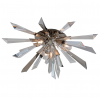 Semi-Flush Ceiling Fitting Light Silver Leaf Corbett Inertia 140-33-CE