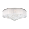 Eglo Montesilvano 39334 12 Light LED Flush Chrome Ceiling Fitting