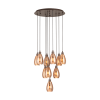 Eglo Siracusa 39509 10 Light Spiral Pendant Brown Copper Ceiling Fitting