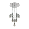 Eglo Siracusa 39506 10 Light Spiral Pendant Chrome Smoked Glass Ceiling Fitting