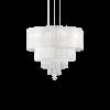 Ideal Lux 182179 Opera Crystal 4 Light Pendant Polished Chrome Frame