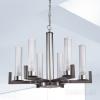 Kolarz Raggio 6 Light Ceiling Chandelier Brunito brushed 6009.80660