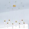 Kolarz Raggio 8 Light Ceiling Pendant Gold Leaf 6009.30830