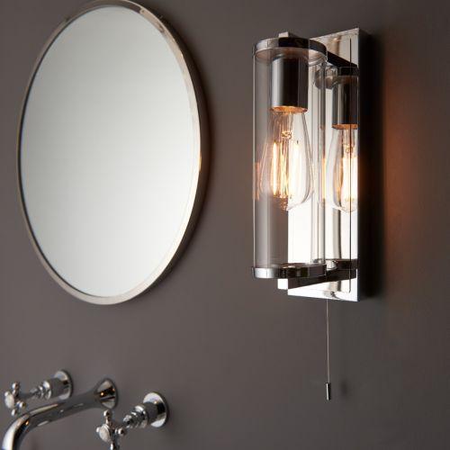 Cylinder Bathroom Wall Light IP44 Rated Chrome Taylor REG/505171