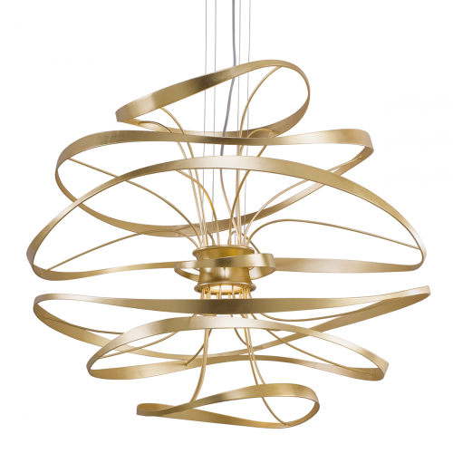 Large LED Ceiling Pendant Gold Leaf Corbett Calligraphy 216-44-CE