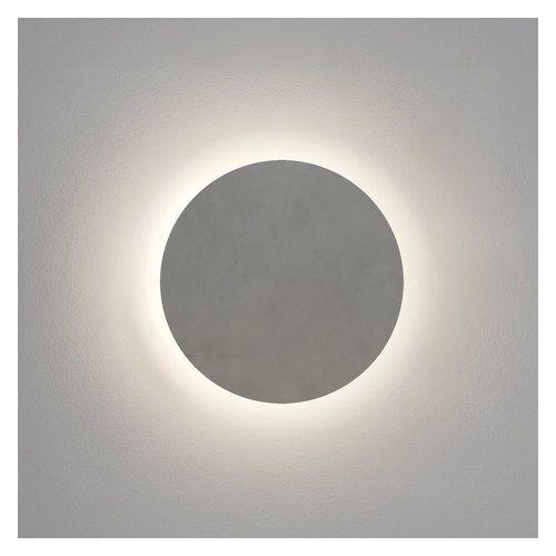 Astro Eclipse Round 300 LED Coastal Wall Light in Matt Concrete 1333011