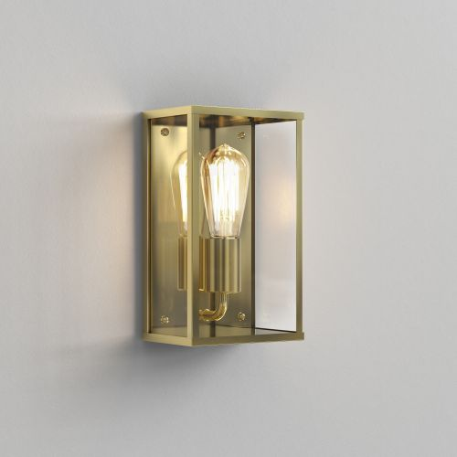 Astro Homefield Outdoor Wall Light in Natural Brass 1095034