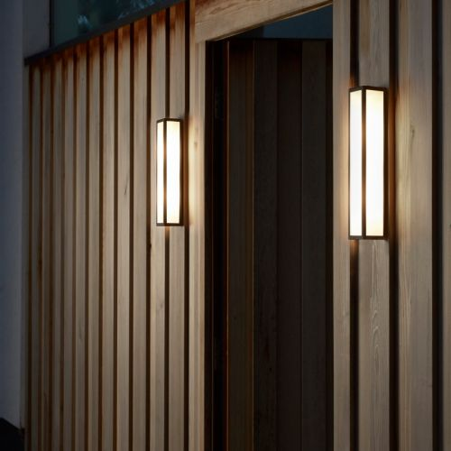 Astro Salerno 520 LED Outdoor Wall Light in Textured Black 1178008