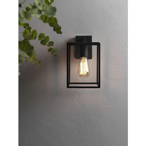 Astro Box Lantern 270 Outdoor Wall Light in Textured Black 1354003