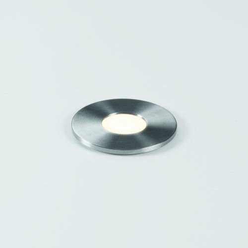 Astro Terra Round 28 LED Outdoor Ground Light in Brushed Stainless Steel 1201003