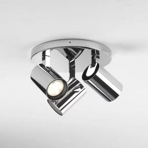 Astro Aqua Triple Round Bathroom Spotlight in Polished Chrome 1393005