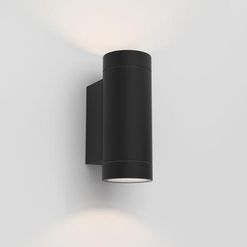 Astro Dartmouth Twin GU10 Outdoor Wall Light in Textured Black 1372014