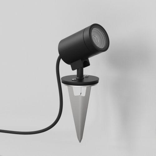 Astro Bayville Spike Spot Outdoor Spotlight in Textured Black 1401021