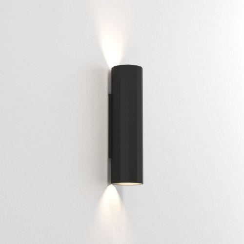 Astro Hashira 300 2 Lamp Wall Light Matt Black 1442001