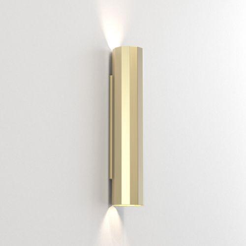 Astro Hashira 400 2 Lamp Wall Light Matt Gold 1442008