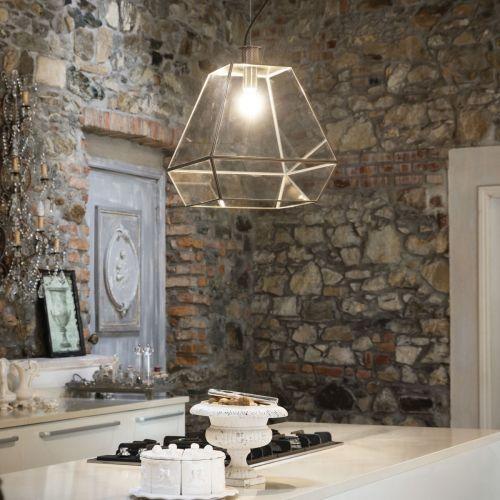 Ideal Lux Orangerie Chandelier 1 Light Burnished IDE/160085