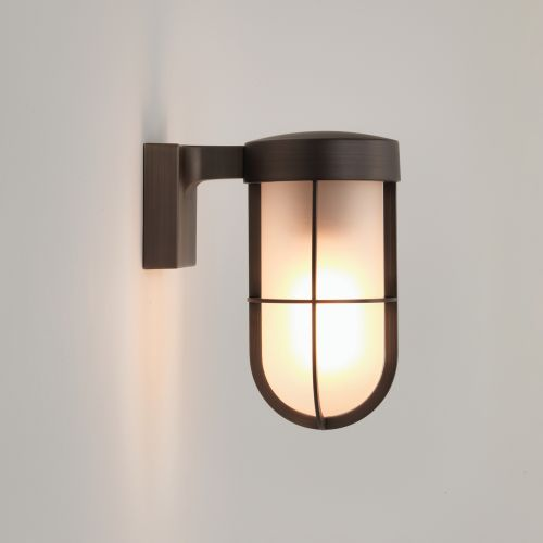 Astro Cabin Wall Frosted Outdoor Wall Light in Bronze 1368026