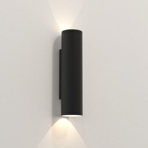 Astro Ava 300 Outdoor Wall Light in Textured Black 1428009