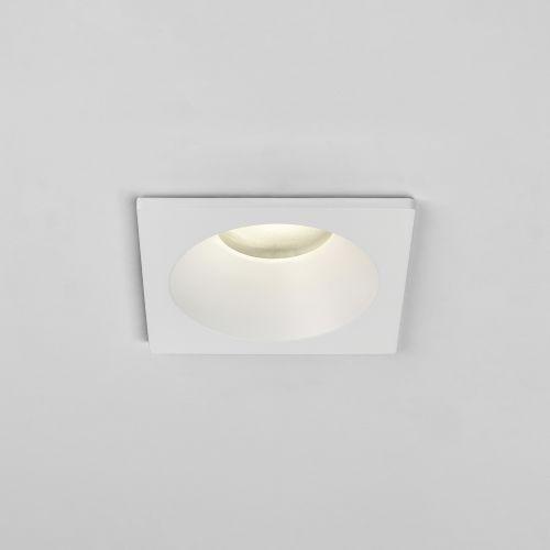 Astro Minima Square Fixed IP65 Bathroom Downlight in Matt White 1249018