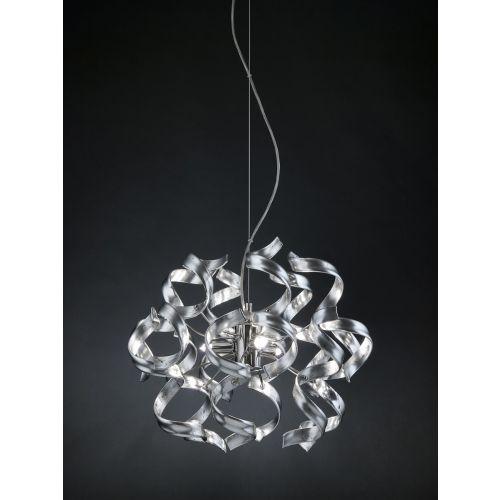 Metal Lux Astro 3 Light Pendant Fitting Murano Glass 206.140.15