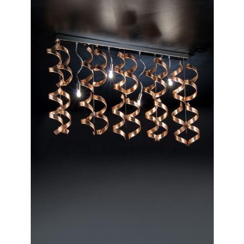 Metal Lux Astro 4 Light Pendant Fitting Murano Glass 206.254.14