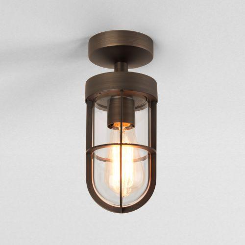 Astro Cabin Outdoor Semi-Flush Ceiling Light Bronze 1368027