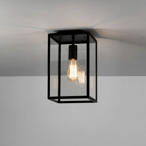 Astro Homefield Ceiling Outdoor Ceiling Light in Textured Black 1095021