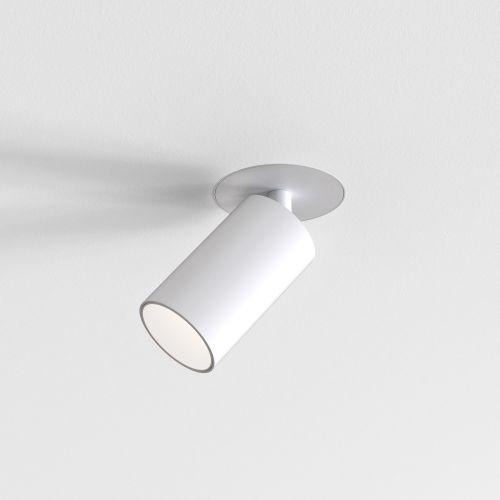 Astro Can 50 Flush Fire-Rated Indoor Spotlight in Matt White 1396017