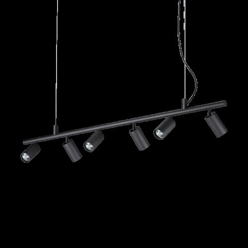 Ideal Lux Dynamite Spotlight Bar 6 Light Black IDE/231396