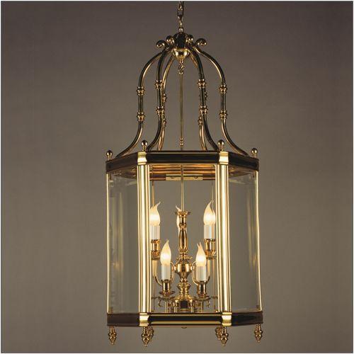 Impex LG00024/09/PB Regal 9 Light Indoor Lantern Cast Brass