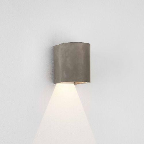Astro Dunbar 120 LED Coastal Wall Light in Matt Concrete 1384019
