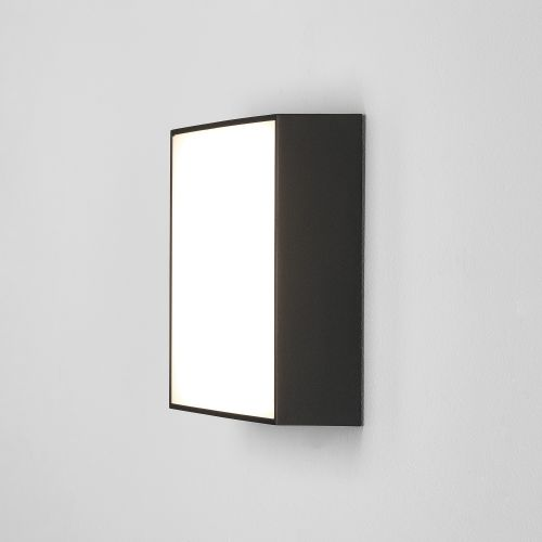 Astro Kea 240 Square Outdoor Wall Light in Textured Black 1391008