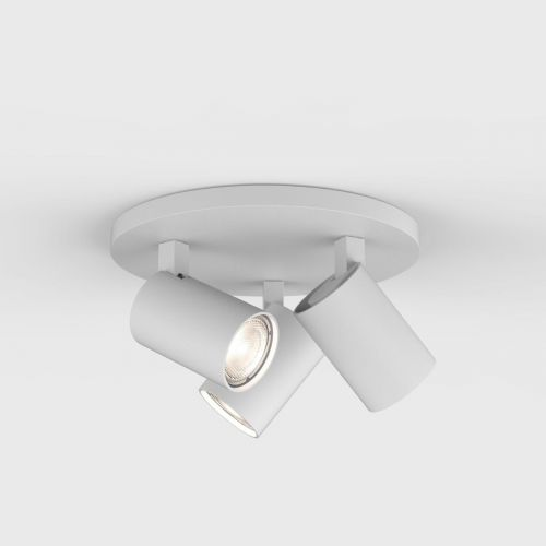 Astro Ascoli Triple Round Indoor Spotlight in Textured White 1286002