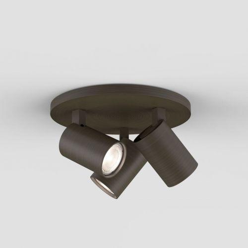 Astro Ascoli Triple Round Indoor Spotlight in Bronze 1286005