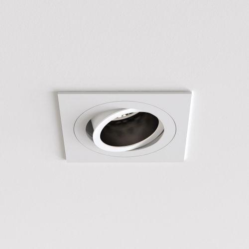 Astro Pinhole Slimline Square Adjustable Fire-Rated Indoor Downlight in Matt White 1434004