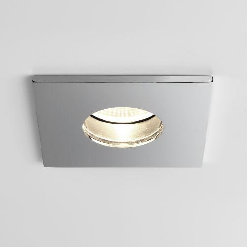 Astro Obscura Square Bathroom Downlight in Polished Chrome 1381005