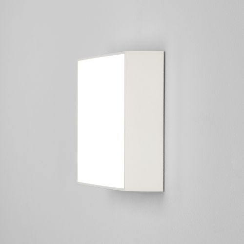 Astro Kea 240 Square Outdoor Wall Light in Textured White 1391007