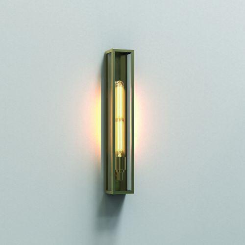 Astro Harvard 500 Outdoor Wall Light in Natural Brass 1402006