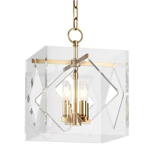 Ceiling Pendant 4 Light Aged Brass Hudson Valley Travis 5912-AGB-CE