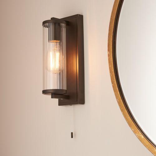Cylinder Bathroom Wall Light IP44 Rated Dark Bronze Taylor REG/505173