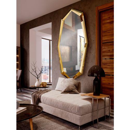 London Mirror Shine Gold Frame