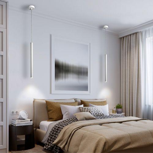Schuller Varas 373075 LED Single Pendant White Frame