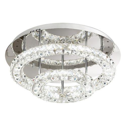 Eglo Ceiling Light LED Chrome/Crystal Toneria 39003