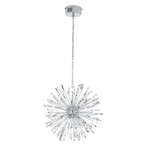 Eglo Ceiling Light G4 Pendant Chrome/Crystal Vivaldo 1 39261