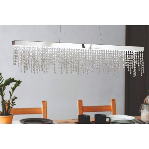 Eglo Ceiling Light LED Crystal Bar Pendant Antelao 39284